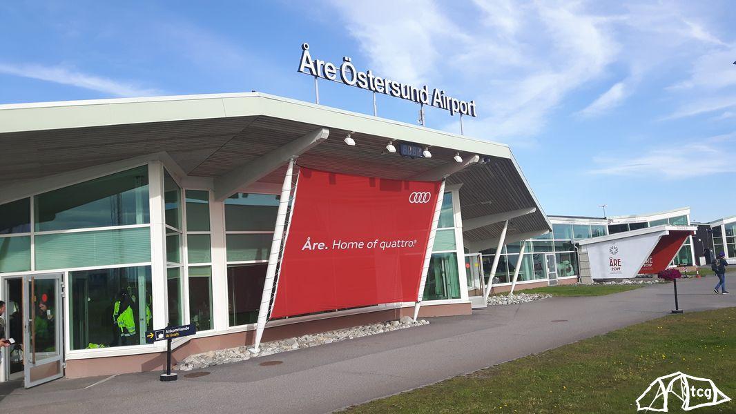 Flughafen in Östersund, Jämtland