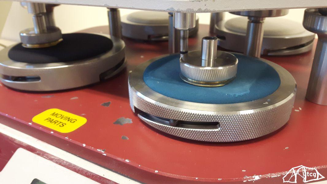 Maschine zum testen des Abriebs