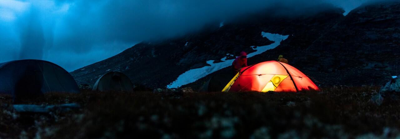 Zeltlager in Skandinavien
